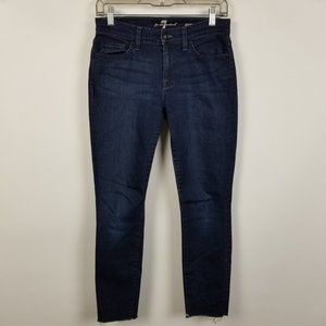 7 For All Mankind Gwenevere Skinny Frayed 26x25